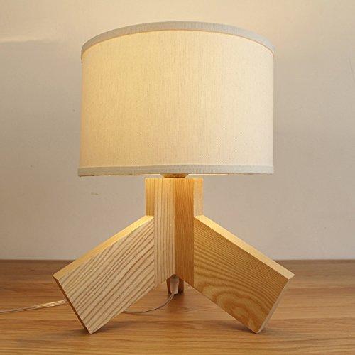 SKC Lighting-lampe de table Modern Simple Creatif Bois Trois Pieds Chambre individuelle Salle d'étude Salle de séjour Lampe de chevet