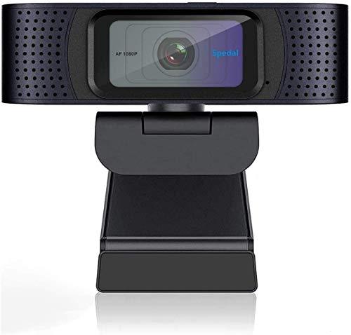 Spedal Full HD Webcam 1080p, Privacy Shutter, 2 Microfoni, Autofocus Live Streaming PC Camera con Microfono, Webcam USB per Xbox OBS XSplit Facebook Skype, Compatibile per Mac OS Windows 10 8 7