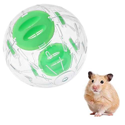 N\O Hamster Bola,Hámster Ejercicio Pelota Mascota Pequeña Gerbil Juguete Interactivo para Bola para hámster Transparente,Bola de Ejercicios para para Animales Pequeños Corriendo Plástico