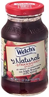 Welch's Natural Spread Strawberry, 17 Oz (Pack of 2)