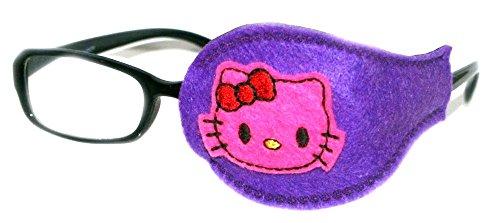 Kinder und Erwachsene orthoptic Eye Patch für Amblyopie Lazy Eye okklusion Therapie Behandlung Design # 31pink Kitty auf violett, Violett