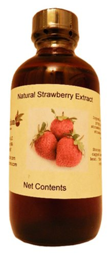 OliveNation pure Strawberry Extract - 2 ounces - Premium Quality Flavoring Extract For Baking