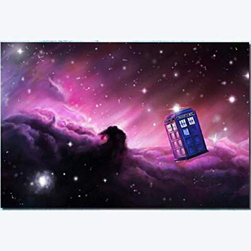PULE DIY 5d Pintura de Diamante Completo Mosaico de Diamantes imágenes Patrones de Punto de Cruz Bordado Hecho a Mano Doctor Who Cartel 40x50CM