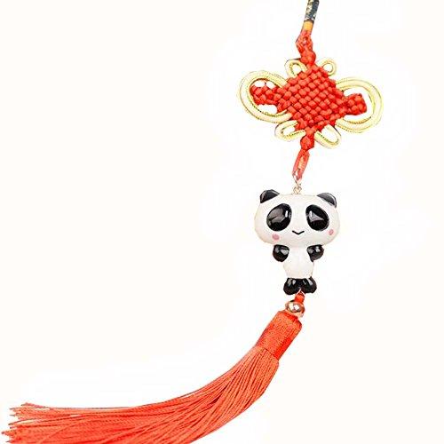 East Utopia Noeud Chinois Panda Accessoires Pendaison Ornement Voiture Pendentif à la Main