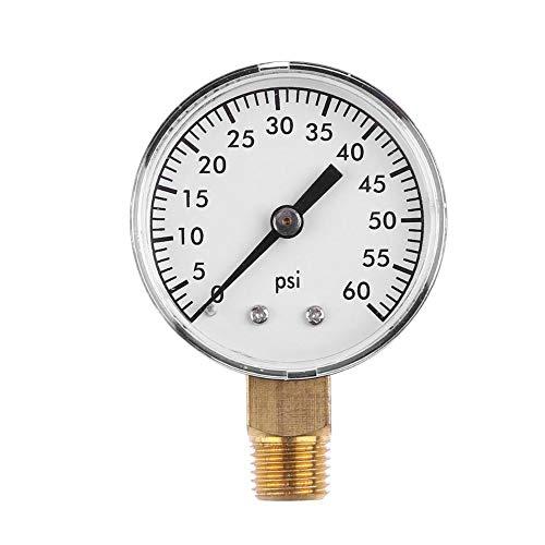Wasserdrucktest Gauge Utility Pressure Gauge for Air Compressor Water Oil Gas 1/4
