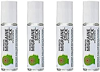 Migrastil Migraine Headache Stick Roll-on Relief, Essential Oil Aromatherapy 10ml by Basic Vigor (4 pack)