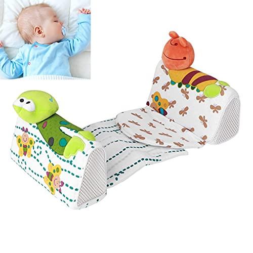 【ó 】Almohada antivuelco para Dormir, Almohada Moldeadora para bebé, Adornos de Dibujos Animados, Tela de Terciopelo, diseño ergonómico, Moldeador de algodón