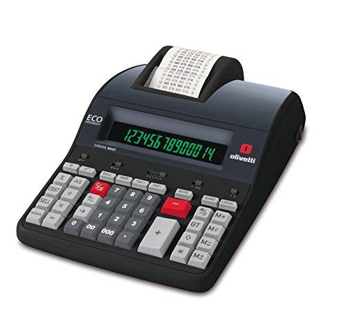 Olivetti Logos 904T Calcolatrice con memoria e stampante termica alfanumerica Nero 205 x 320 x 87 mm