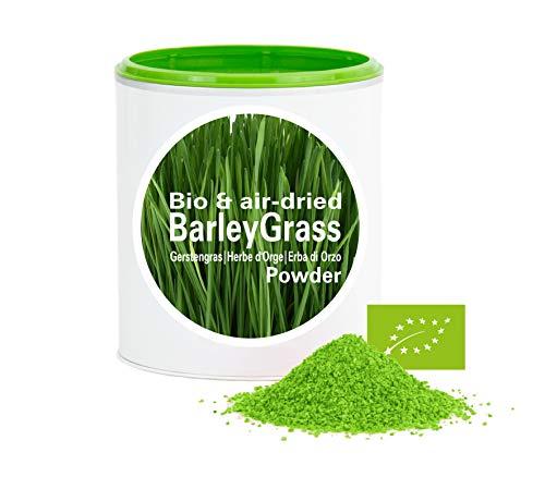 Herbe d'Orge en poudre - vitamines végétales|qualité suprême|biologique|végan|crue|sans additives|Fabriqué en UE|Good Nutritions|120g