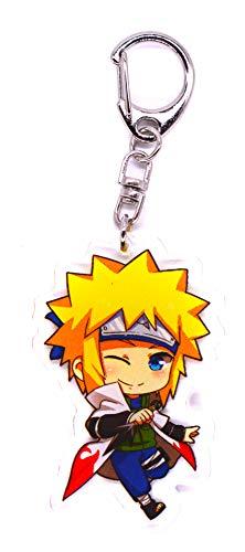 Anime Domain Llavero de Naruto con Figura Chibi(Namikaze Minato)