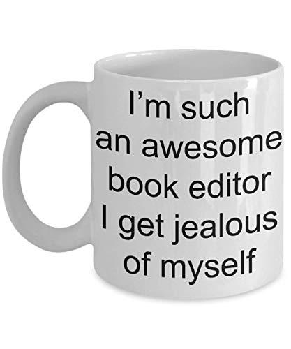 N\A Taza de café del Editor de Libros, Soy un Editor de Libros increíble: Taza de café Blanca