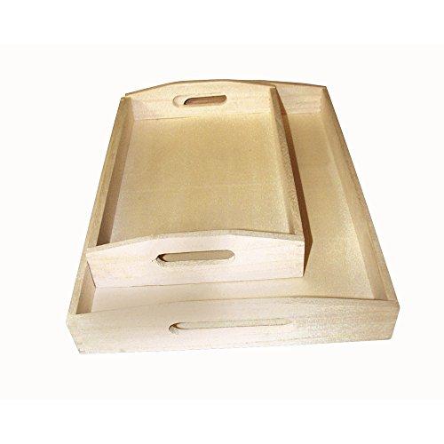 Rayher - 6208400 - Set Vassoio in Legno, 2 Formati, 30 x 20 cm, 39 x 28 cm