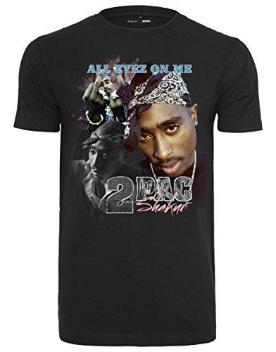 Mister Tee Herren Tupac Retro T-Shirt, Black, L