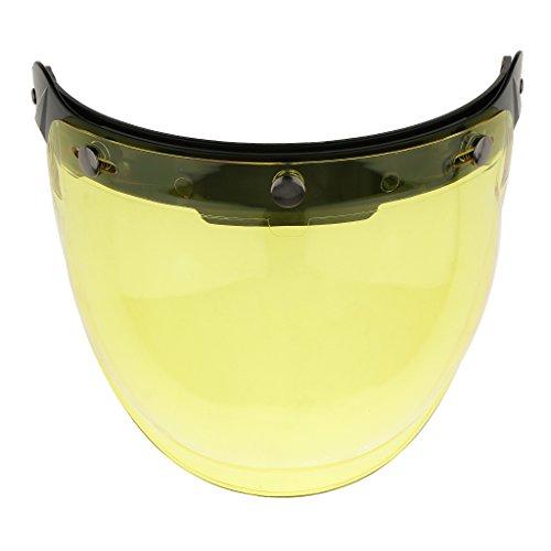 NC Moto Motocicleta Casco Visera Protector Facial Completo Protector Contra El Viento - Amarillo