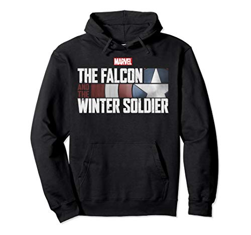Marvel The Falcon And The Winter Soldier Shield Logo Pullover Hoodie