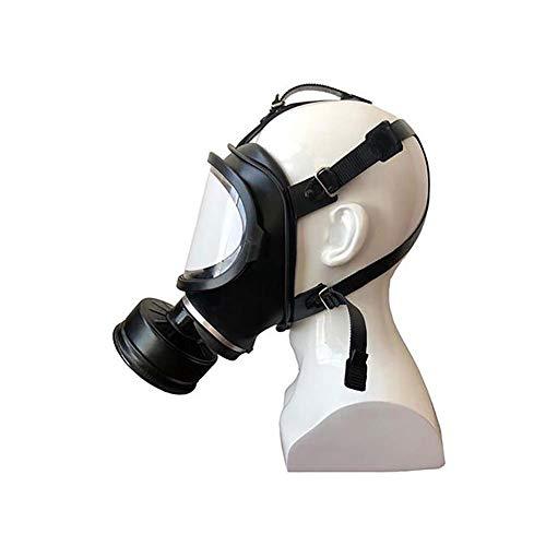 FXQIN Máscara de Gas, Gas Mask Ajustable con filtros, Reutilizable, para Trabajo en Aerosol/Pintura, para Militar Realidad Campo