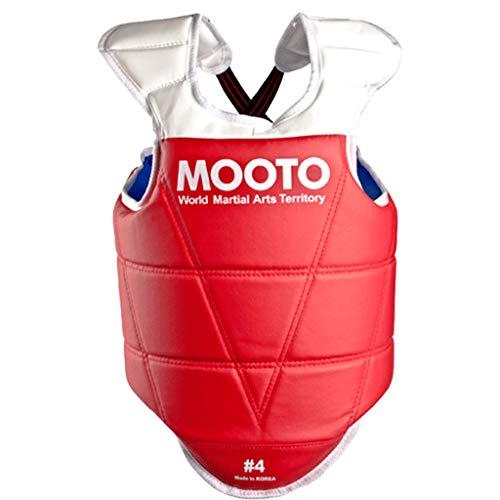 Mooto Protecteur de Poitrine réversible Corée Taekwondo approuvé équipement de Protection MMA 5_XL Rouge Bleu