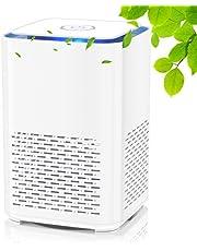 QUARED Purificador de Aire Portátil con Filtro HEPA, USB Filtro de Aire de Escritorio, con Función de Aromaterapia, Luz Nocturna, para Elimina Polvo, Polen, Humo, Hogar y Oficina (SY-702)
