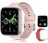 Smartwatch Reloj Inteligente ,Sebami Pulsera de actividad Impermeable IPX5 de 1.55 inch Pantalla Completa Táctilpara Hombre Mujer niños Con función de llamada Bluetooth, Pulsera de Actividad Inteligente con Monitor de Sueño Contador de Caloría Pulsómetros Podómetro para Android iOS (Rosa)