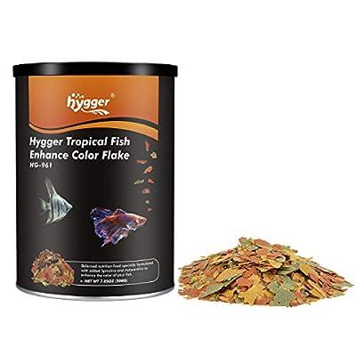 hygger 7-oz Jar Color Enhancing Tropical Fish F...