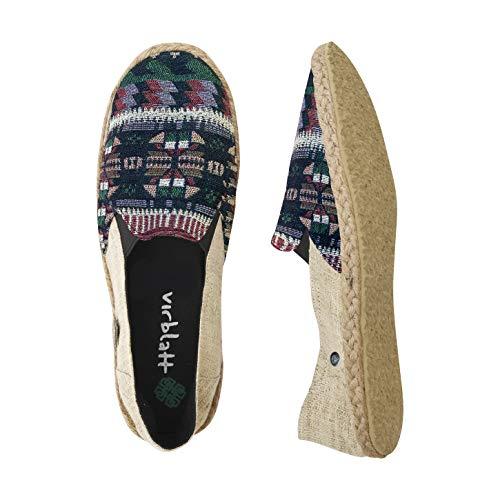virblatt – espadrilles en zomerschoenen uit hennep patroon van de Hmong bergstam – casual