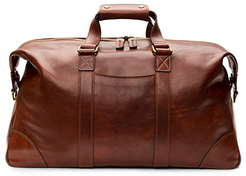 Bosca Men's Dolce Collection - Duffel Dark Brown One Size