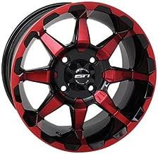 4/156 STI HD6 Alloy Wheel 14x7 4.0 + 3.0 Radiant Red for Polaris RANGER 800 HD 2010-2012