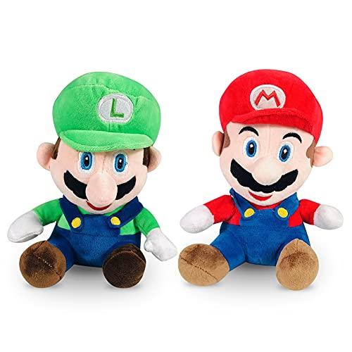 Mario and Luigi - Juguete de peluche (20 cm)