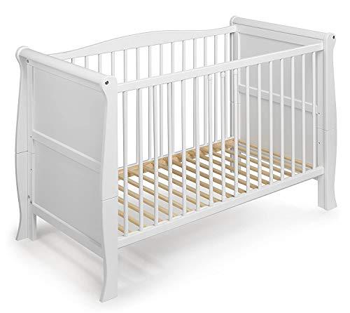KOKO Babybett Kinderbett Gitterbett LILLY 120x60 weiss inkl. Matratze