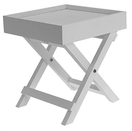 Spetebo Kleiner Holz Beistelltisch - 2-teilig mit Abnehmbarer Tischplatte