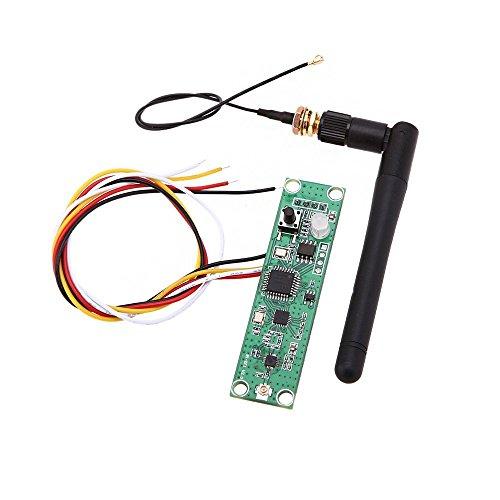 TOOGOO(R) Leiterplatte Module Drahtlose DMX512 2.4 G LED Buehne Licht PCB Module Board LED Controller Sender Empfaenger mit Antenne