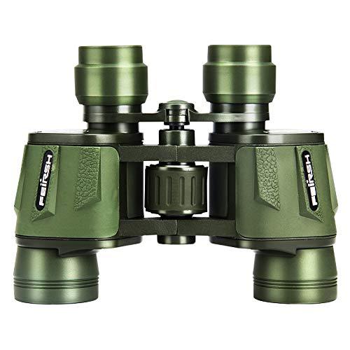 PIGE Jumelles Full-HD de Taille Basse Vision Nocturne Optique Télescope Matériel métallique Imperméable à l'eau Anti-buée BAK4 Prisme Observation d'oiseaux (Taille : ArmyGreen10x42)