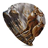 Berretto di Cervo Mimetico Albero Reale per Uomo/Donna - Cappello a Maglia Larga con Cappuccio Hip-Hop Casual