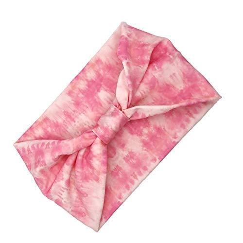 Cintas Pelo Cinta Pelo Mujer Banda de Sudor Las Diademas Hombre Banda de Pelo Negro Diadema Sudor Bandas elásticas para Las Mujeres Pink,22.5cm