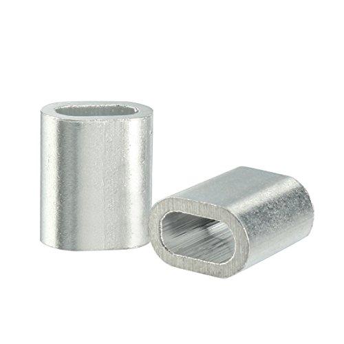 6mm sourcingmap/® Virole acier inoxydable pour 0,24 inch diam/ètre c/âble m/étallique 50pcs
