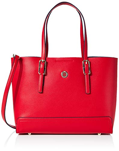 Tommy Hilfiger Honey Med Tote, Borse Donna, Rosso (Barbados Cherry), 1x1x1 centimeters (W x H x L)