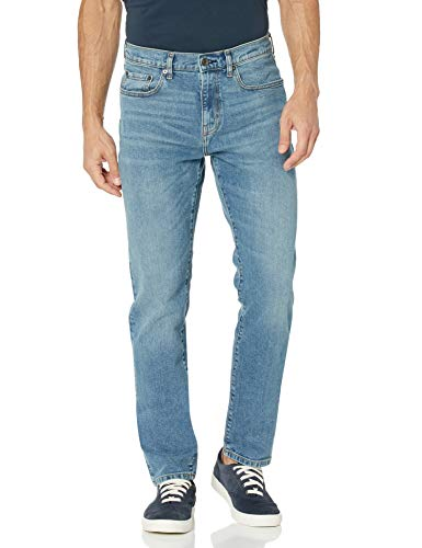 Amazon Essentials Men s Athletic-Fit Stretch Jean, Light Wash, 29W x 28L