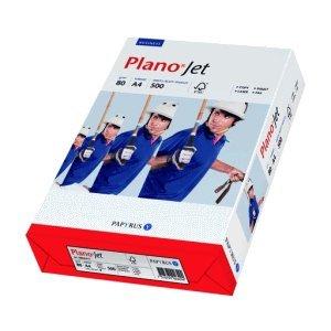 Papyrus PlanoJet A4(210× 297mm) weiß Papier Tintenstrahldrucker–Papiere Tintenstrahldrucker (A4(210× 297mm), Universal, Weiß, 80g/m², 2500Blatt)