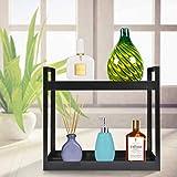 Plantex Multipurpose Storage Organizer Deluxe 2 Tier Shelf for Bathroom/Home/Office/Kitchen Accessories (Black)