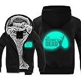 Hoodie Sweater-Jacke - The Walking Dead Luminous Reflektierende Druck Baseball Uniform - Männer Warm Beiläufige Sweatshirt Mit Reißverschluss Stitching Langarm Pullover Top -teen Geschenk B-S