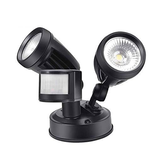 LED Sicherheitslicht Flutlichtstrahler mit Bewegungsmelder,Flutlicht im Freien30W Dual Lampe mit Bewegungsmelder Aussen 2700 lm Superhell LED Fluter IP54 Wasserdicht Außenstrahler(Warmweiß)