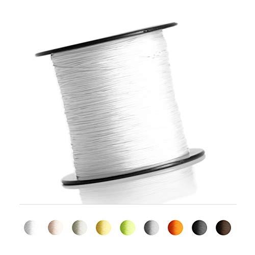 Schnur für Plissee, Rollo, Jalousette 0,8 mm Spannschnur Plisseeschnur zubehör (Weiß, 40 Meter)