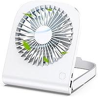 卓上扇風機 2021年最新設計 携帯扇風機 小型 USB扇風機 折りたたみ式 卓上 壁掛け 超静音 軽量4800mAh超大容量 予備バッテリー 風量4段階調節 180°調整可能 長時間連続使用 ミニ扇風機 熱中症対策 省エネ 収納便利 ホワイト