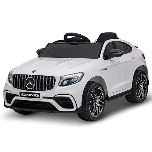 HOMCOM Voiture véhicule électrique Enfants 12 V 35 W V. Max. 3 Km/h télécommande Effets sonores + Lumineux...