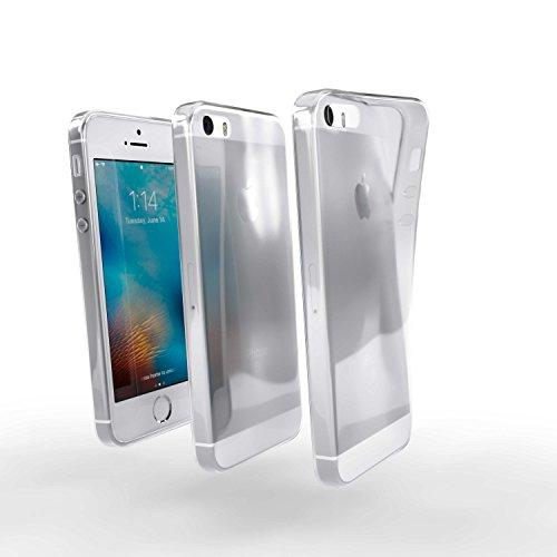 savvies Funda Compatible con Apple iPhone 5 / 5S / 5C / SE 2016 Carcasa Funda Silicona Transparente TPU Case