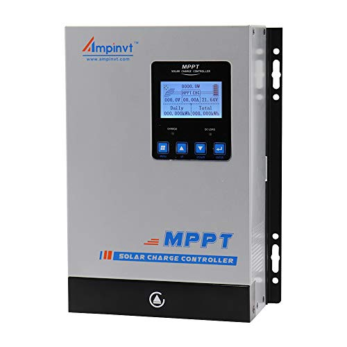 80 Amp MPPT Solar Charge Controller 48V 36V 24V 12V Auto, 80A Solar Panel Regulator Max Input Power 1100W-4500W, for AGM Sealed Gel Flooded Lithium Battery Support Wireless Control Communication