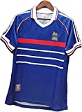 PPOI Jersey de Hombre Retro Adulto 1998 Francia 10# Zidane 12# Henry Training Uniform T-Shirt, Sudadera rápida y Seca (Color : Blue, Size : XL)
