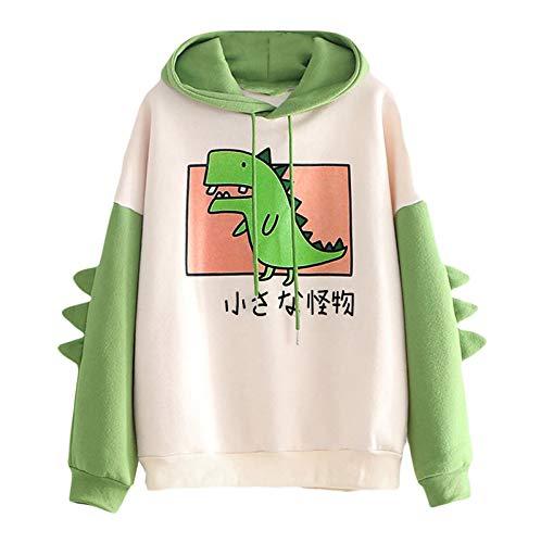 NIBA Hoodie Damen Sweatshirt mit Kapuze Japanischen Stil Kawaii Karikatur Kapuzenpullover Mädchen Herbst und Winter Pullover für Party Reisen Tägliche