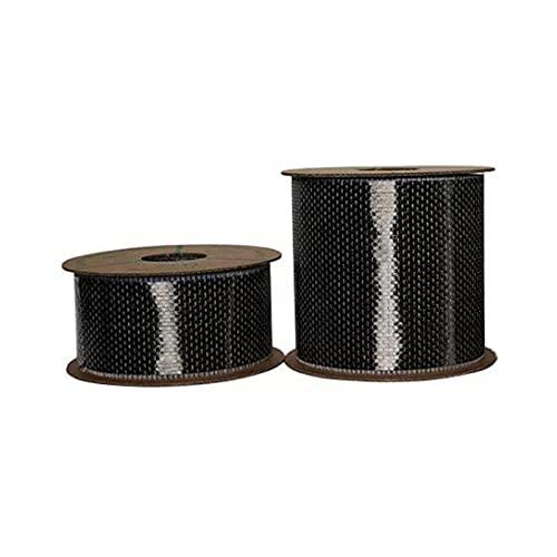 YUQIYU. Tessuto unidirezionale in Fibra di Carbonio 12K 200g da 200 g per la Costruzione e la Riparazione della Costruzione del Ponte (Color : Width 10cm, Size : Length 30cm)