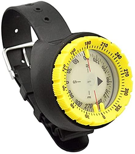 PGKCCNT Buceado de Buceo bajo el Agua 50M Professional A Prueba de Agua Navegador Digital Scuba Luminoso Reloj Equilibrio para Natación (Color: Azul) (Color : Yellow)